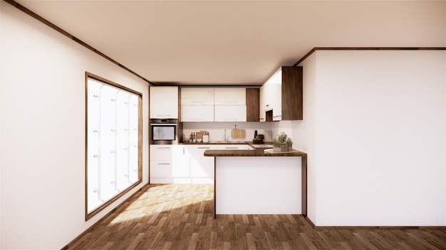 Premium Photo Vintage Kitchen Room Interior Japanese Style