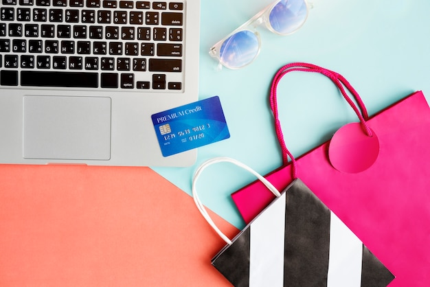 Vintage lifestyle minimalist femininity e-shopping concept Free Photo