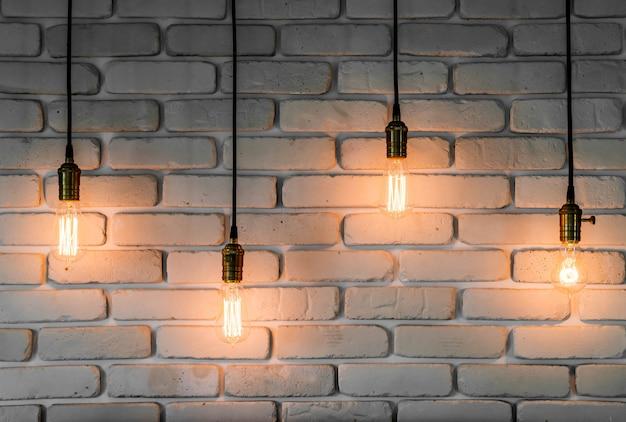 Vintage light lamp decoration Premium Photo