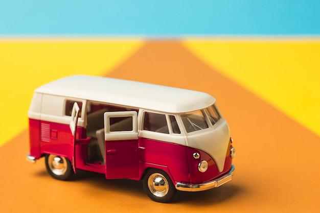 Vintage miniature minivan Free Photo