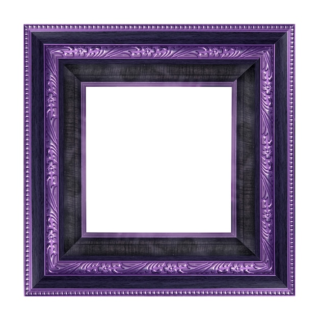 Vintage picture frame isolated Premium Photo