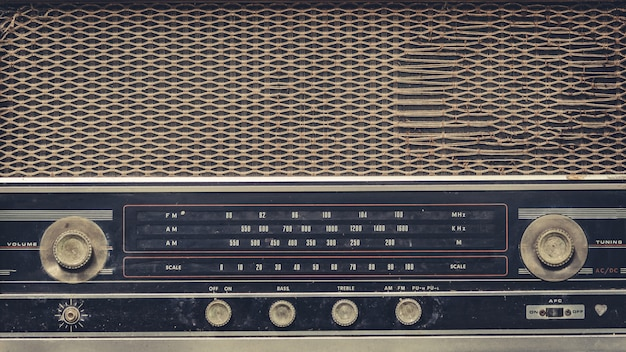 Vintage radio music player panel Premium Photo