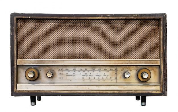 Vintage radio receiver - antique wooden box radio Premium Photo