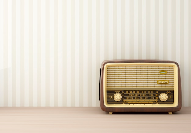 빈티지 라디오 무료 사진