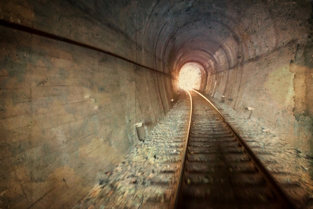 Vintage railway tunnel Free Photo