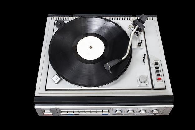 Vintage record player with radio tuner Premium Photo