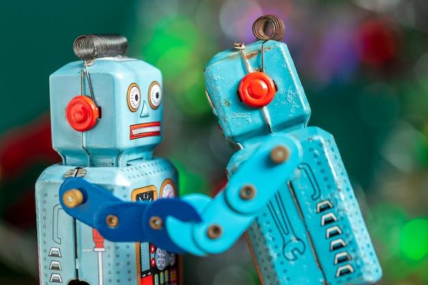Vintage retro robot tin toy Premium Photo