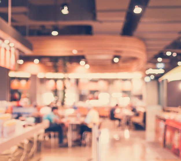 Vintage style - blurred luxury restaurant in shopping mall Free Photo