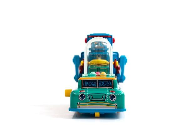 Vintage tin robot toy isolated Premium Photo