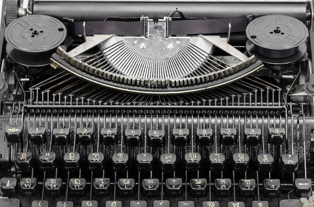 Vintage typewriter keys Premium Photo