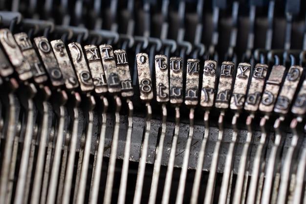 Vintage typewriter letters Premium Photo