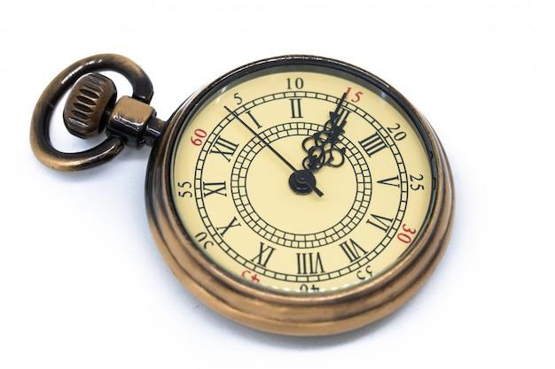 Vintage watch isolated on white background Premium Photo