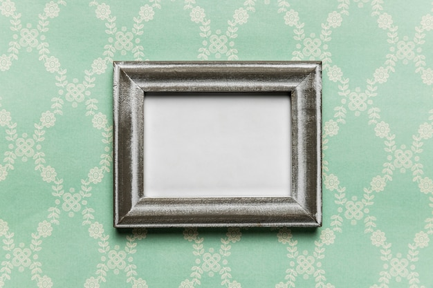 Vintage white frame with pattern background Free Photo