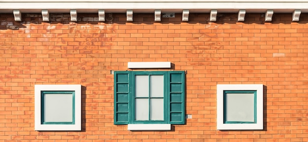 Premium Photo Vintage Windows On Orange Wall In Building