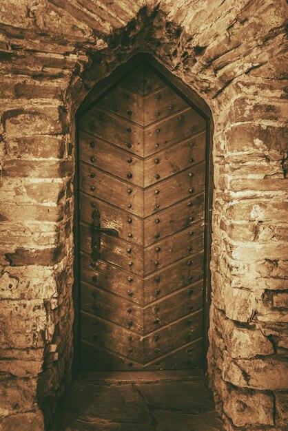 Vintage Wooden Castle Door Photo | Free Download