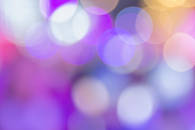 Violet bokeh with big circles background for wallpaper. Premium Photo