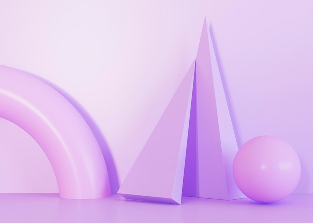 Violet tones of geometric shapes background Free Photo