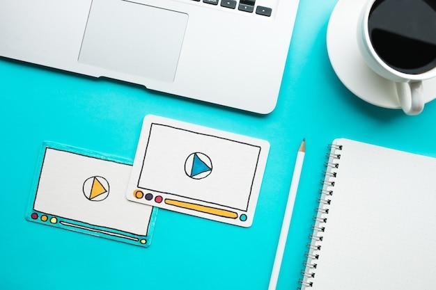 Вирусный маркетинг, социальные сети, концепции интернет-маркетинга Premium Фотографии
