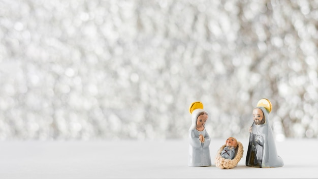Virgin mary with baby jesus and saint joseph Free Photo