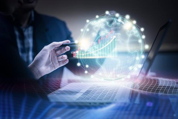 Virtual reality technology on digital marketing Premium Photo
