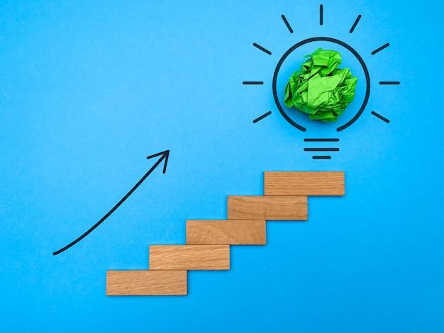 Vision of new successful idea Premium Photo