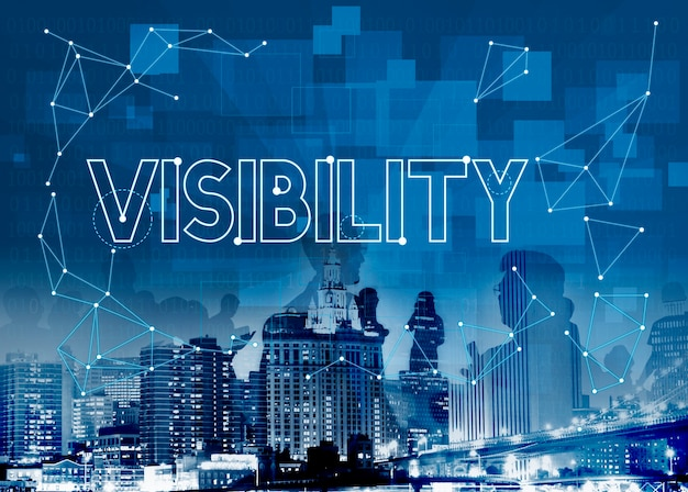 Vision visibility observable noticeably graphic concept Free Photo