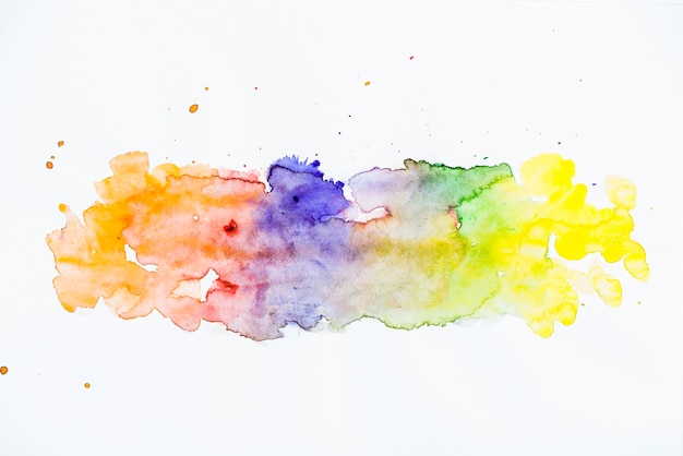 Vivid watercolor brush stroke texture background Free Photo