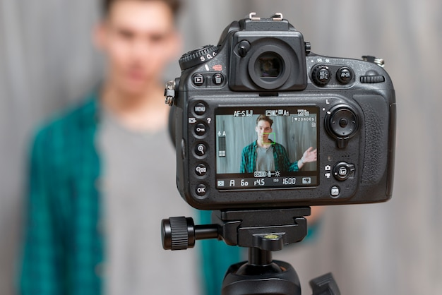 Vlogger Premium Photo