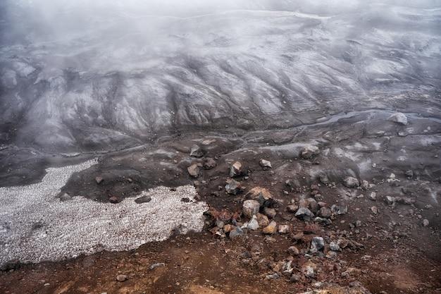 Volcanic landscape in the crater of mutnovsky volcano. far east of russia, kamchatka peninsula Premium Photo