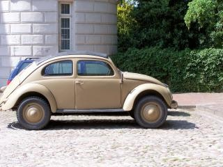Старый жук volkswagen от мировой войны 2, автомобиль Бесплатные Фотографии