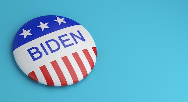 投票ボタンバッジバイデン Premium写真