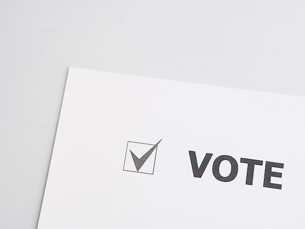 Voting checked box close-up Free Photo