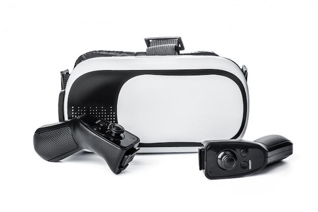 Vr、白の仮想現実の眼鏡 Premium写真