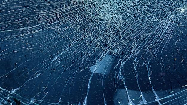 自動車事故で割れたガラスが偶然w Premium写真