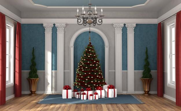 В ожидании рождества в роскошной комнате Premium Фотографии