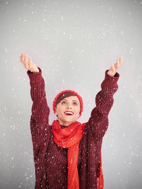 雪が降るのを待っています 無料写真