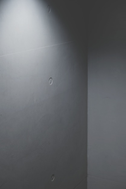 Wall concrete corner with artificial light Free Photo