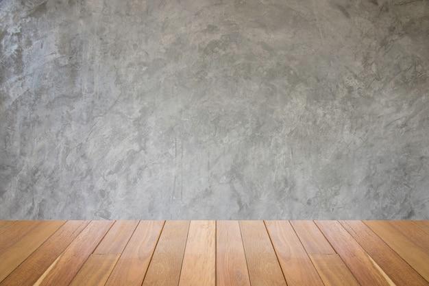古い汚れた質感、灰色のコンクリートwall.dirtyビンテージセメントwall.grunge背景壁紙木製の床。 Premium写真