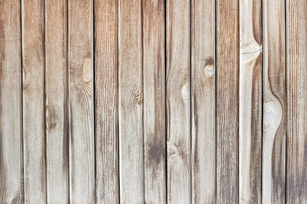 Wall from the wooden planks. texture, background. Premium Photo