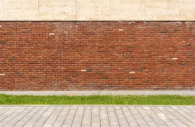 The wall of the house is red brick Premium Photo