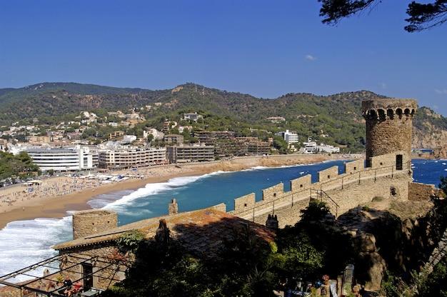 Walls Of Tossa De Mar Costa Brava Girona Spain Photo Premium