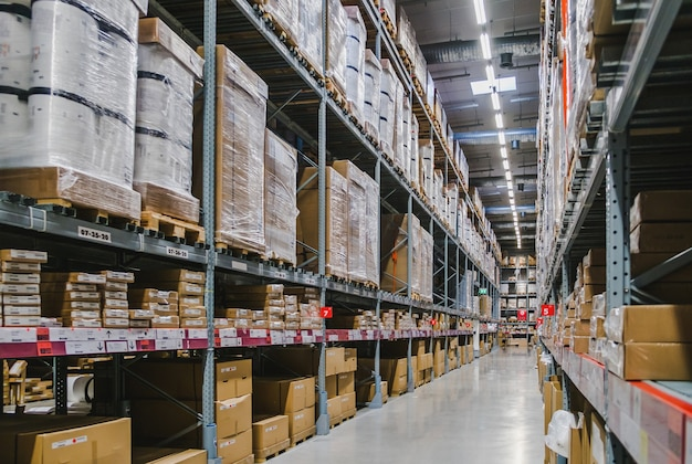 Warehouse aisle in an ikea store Photo | Premium Download