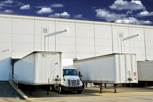Warehouse loading docks Free Photo