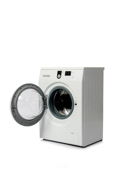 Washing machine isolated on white background Premium Photo