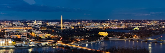 Washington dc aerial panorama Premium Photo