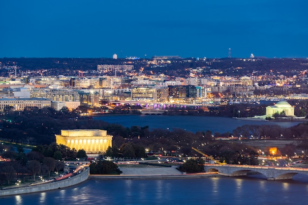 Washington dc aerial Premium Photo