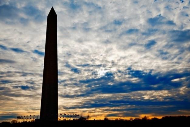 Washington monument silhouette Foto Gratuite