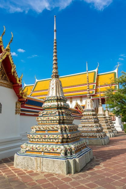 Wat pho is the most famous of thailand temple for tourists  in bangkok, thailand Premium Photo