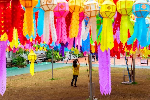 Wat phra that hariphunchai Premium Фотографии