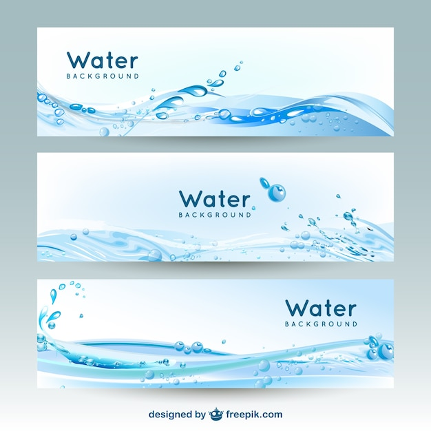 Water Banner Backgrounds Vector